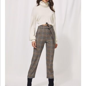 Wilfred Jallade plaid belted pant